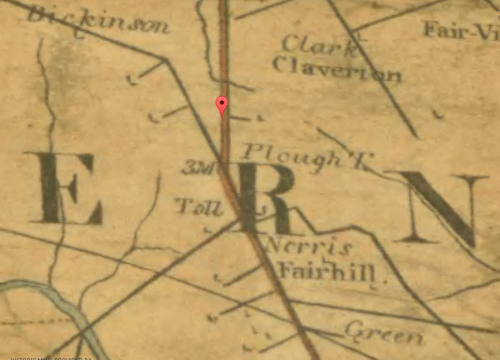 Map of Fairhill, 1808