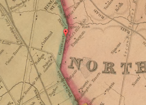 Map of Fairhill, 1843