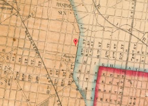 Map of Fairhill, 1855