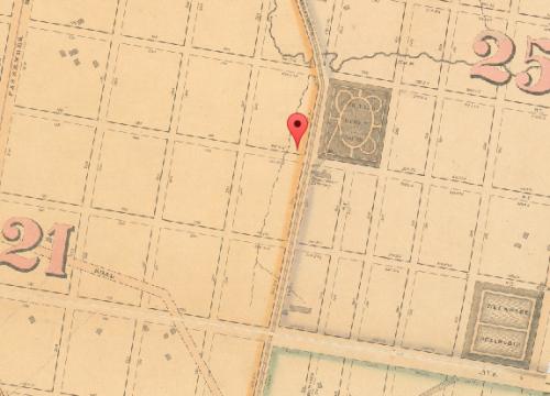 Map of Fairhill, 1862
