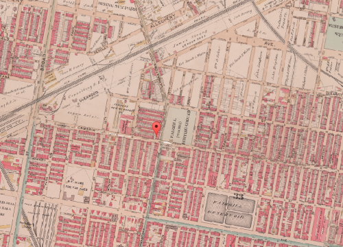 Map of Fairhill, 1895