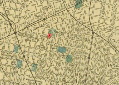 Map of Fairhill, 1903