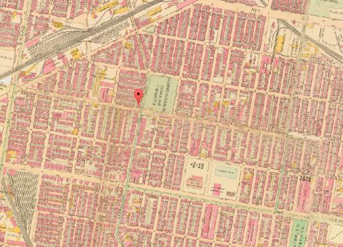 Map of Fairhill, 1910