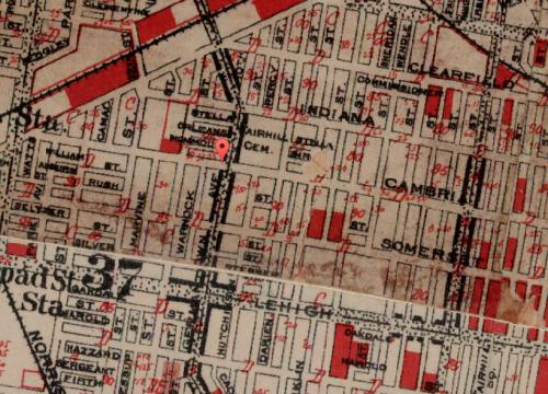 Map of Fairhill, 1934