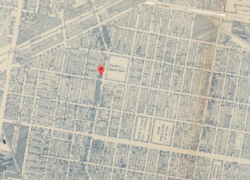 Map of Fairhill, 1942