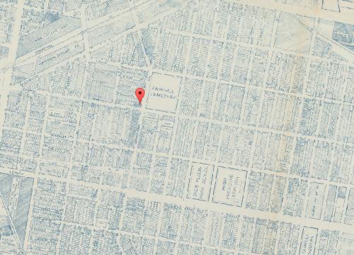 Map of Fairhill, 1962